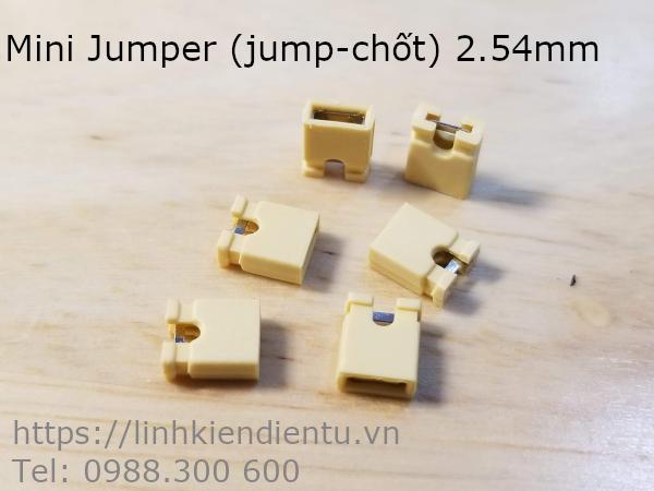 Mini Jumper (jump chốt) 2.54mm, màu vàng