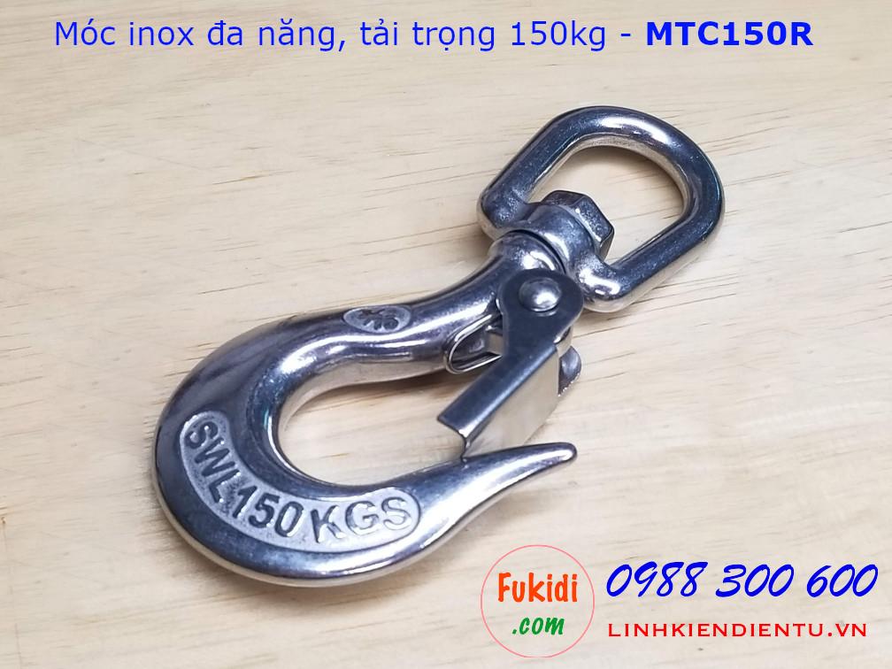 Móc inox đa năng, tải trọng 150kg đầu tròn - MTC150R