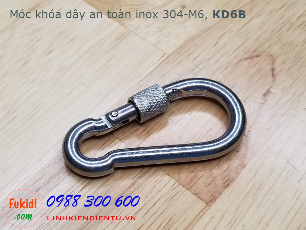 Móc khóa đai an toàn inox 304 cỡ M6, model KD6B