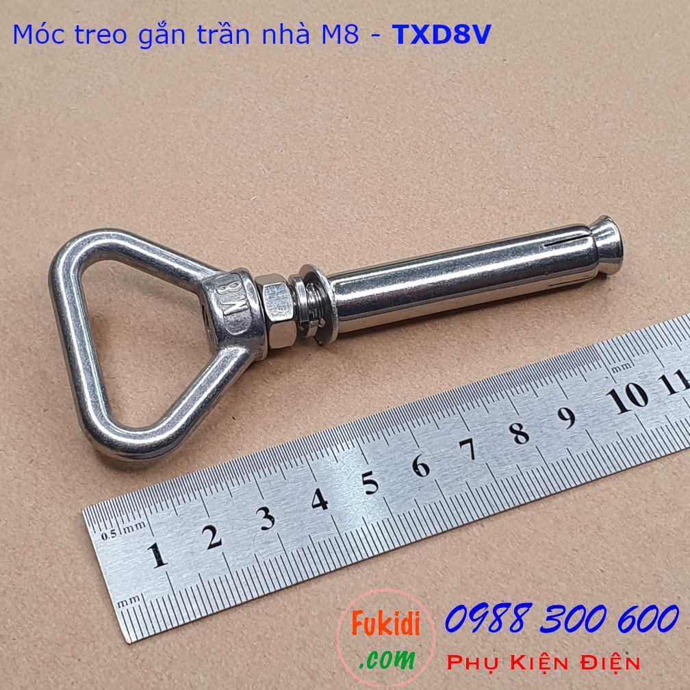 Móc treo trần bê tông, inox 304 size M8 tải 75kg - TXD8V
