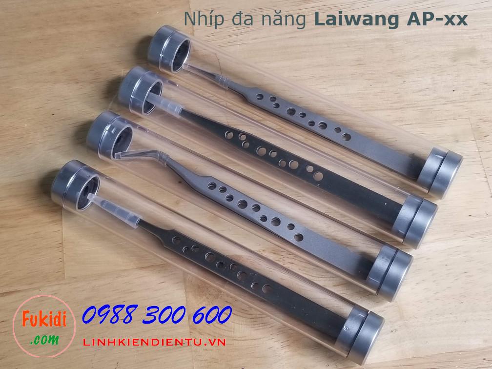 Nhíp gắp đa năng LAIWANG AP-10, chất liệu thép không rỉ, thân có lỗ giảm nhiệt