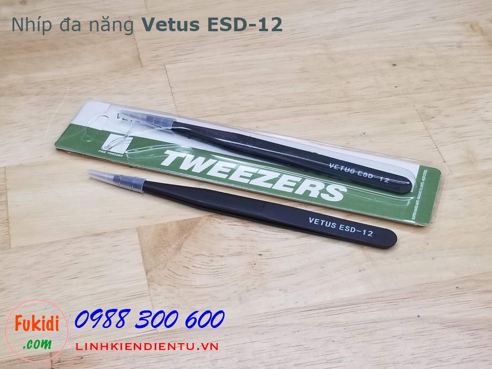 Nhíp gắp linh kiện điện tử VETUS ESD-12