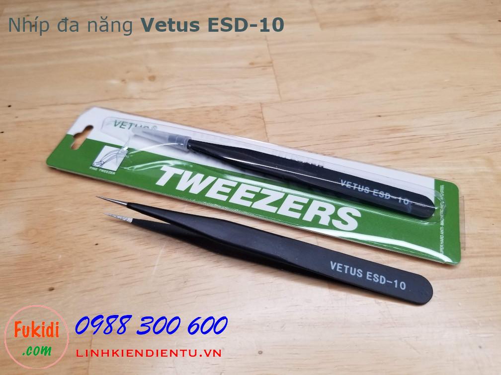 Nhíp gắp đa năng VETUS ESD-10 rất phù hợp để gắp linh kiện điện tử