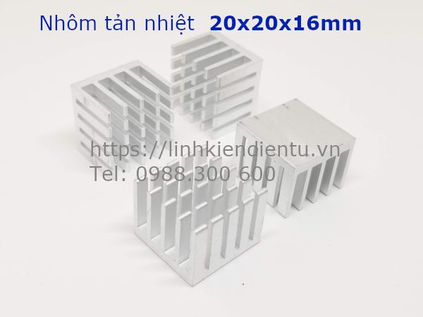 Nhôm tản nhiệt kích thước 20x20x16mm