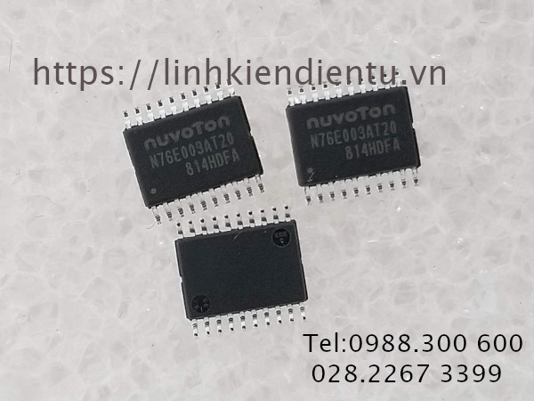 Nuvoton N76E003AT20 - N76E003 – a 1T-8051 based series MCU
