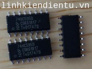74HC595D: 8-bit serial-in, serial or parallel-out shift register with output latches; 3-state