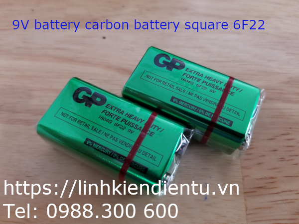 GP 9V battery carbon battery square 6F22