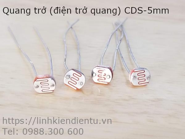 Quang trở (điện trở quang) CDS 5mm, 5539