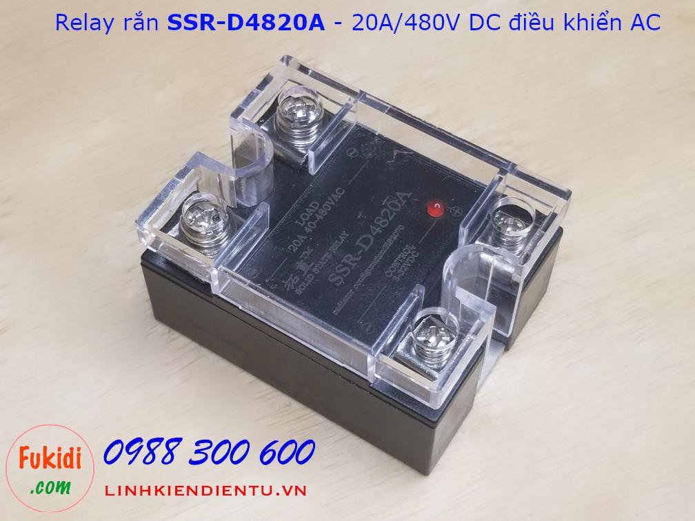 Module relay rắn SSR 20A/480VAC DC điều khiển AC SSR-D4820A
