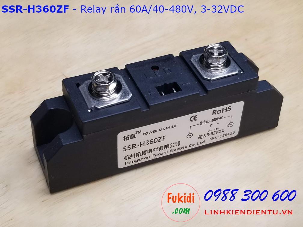 Relay rắn một pha 60A/40-480VAC loại DC điều khiển AC SSR-H360ZF