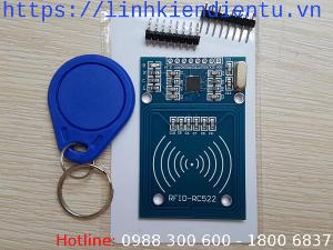Bộ đọc RC522 và hai thẻ RFID 13.56MHz