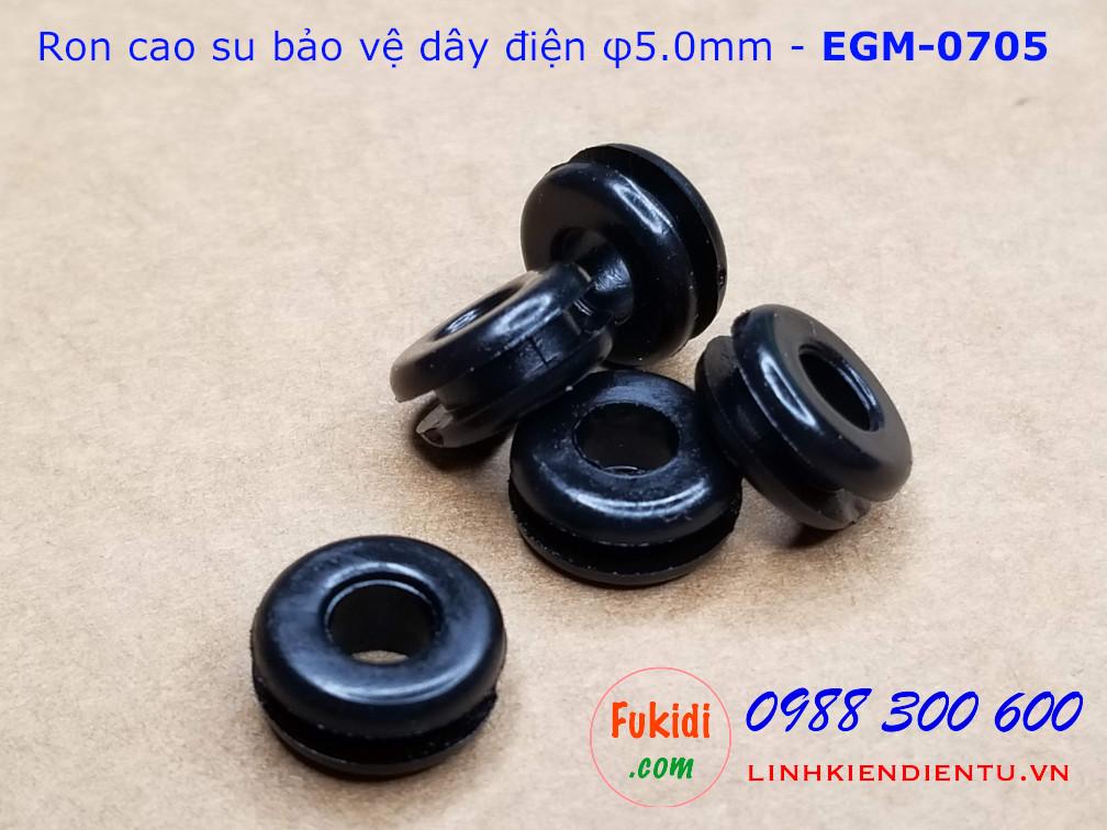 Vòng đệm, ron cao su bảo vệ dây phi 5mm EGM-0705 - EGM0705