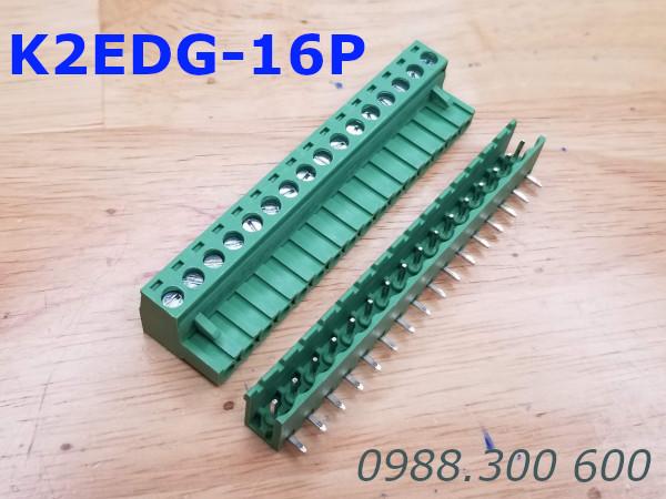 KF2EDG-16P-5.08-L: Terminal Block 16P 5.08mm curved - Jact cắm 16 chân cong