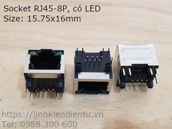 Socket RJ45-8P, có LED
