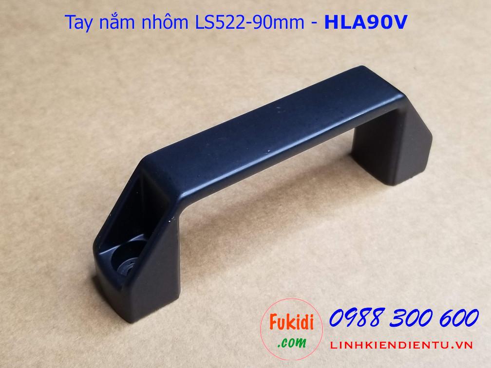 Tay nắm nhôm định hình, tay nằm chữ D bằng nhôm chiều dài 90mm - HLA90V