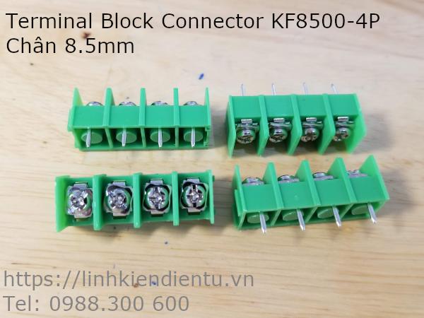 Terminal Block Socket KF8500-4P bốn chân 8.5mm, màu xanh