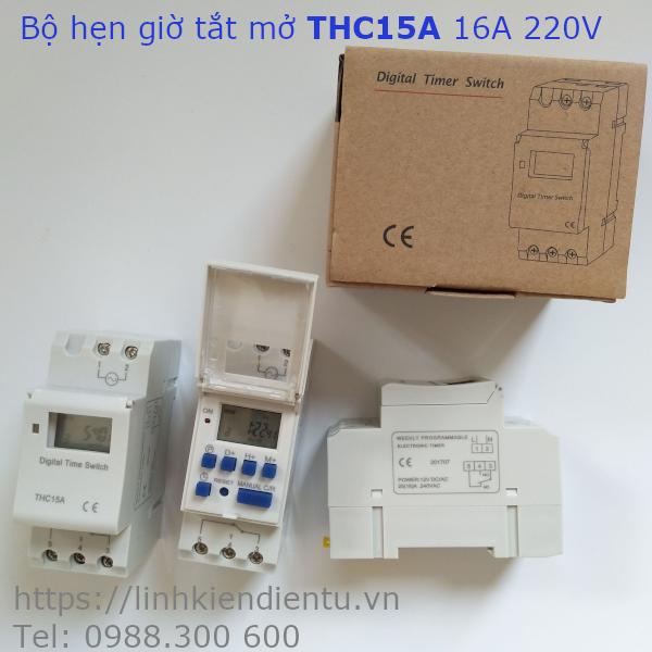Công tắc hẹn giờ đóng/ngắt điện THC15A 16A 220V