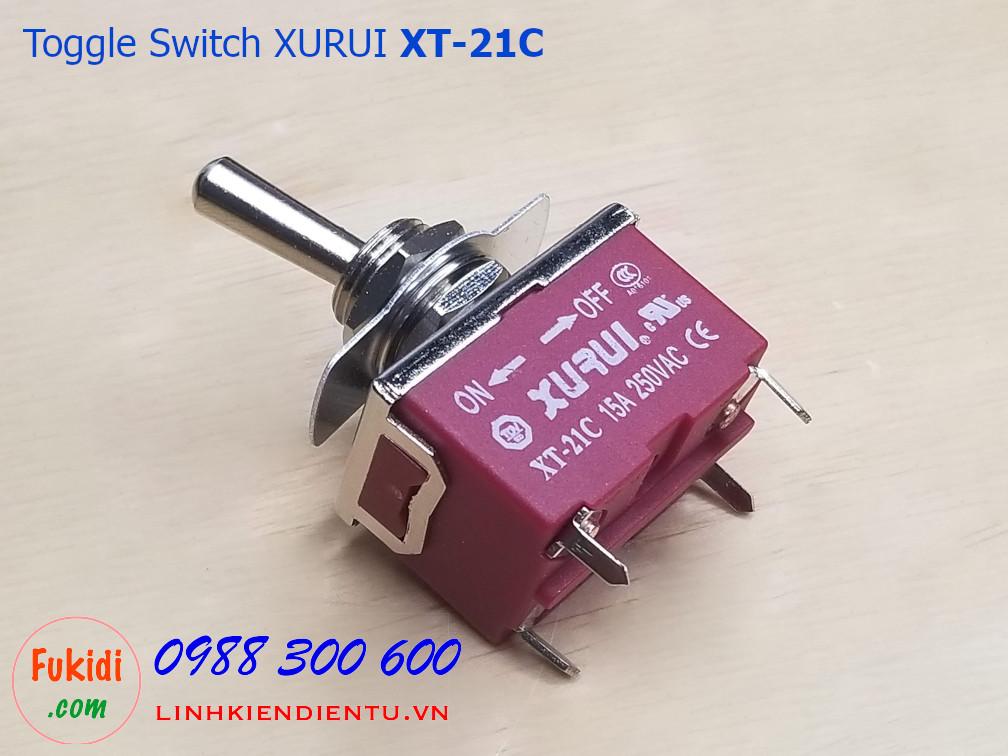 Toggle Switch - công tắc gạt ON-OFF Xurui XT-21C 15A/250VAC