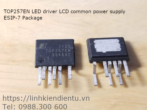 TOP257EN LED driver LCD common power supply, ESIP-7 Package