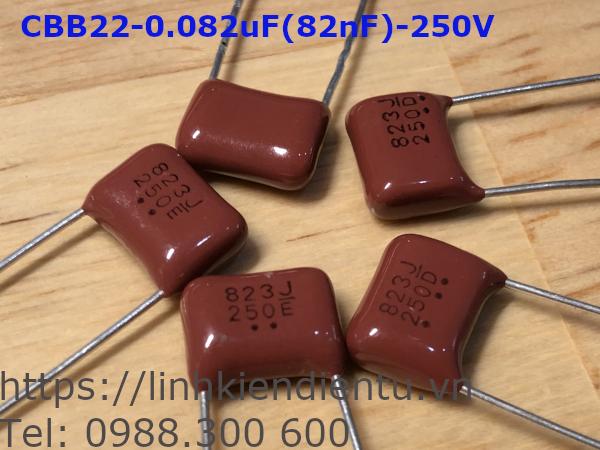 Tụ CBB22 823J250: 82nF/250V