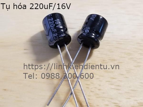 Tụ hóa 220uF 16V kích thước 6.3x7mm
