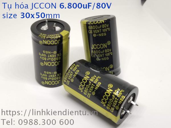 Tụ hóa JCCON 80v6800uf 6.800uF/80V size 30x50mm chân cứng