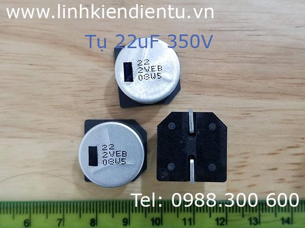 Tụ nhôm Panasonic 22uF/350V SMD 18x16.5mm