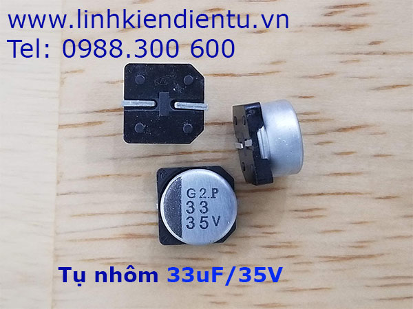 Tụ nhôm 33uF/35V 8x5.4mm SMD