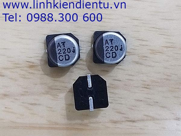 Tụ nhôm Panasonic 220uF/6.3V 6.3x6.1mm SMD