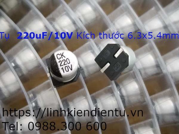 Tụ nhôm SMD 220uF 10V