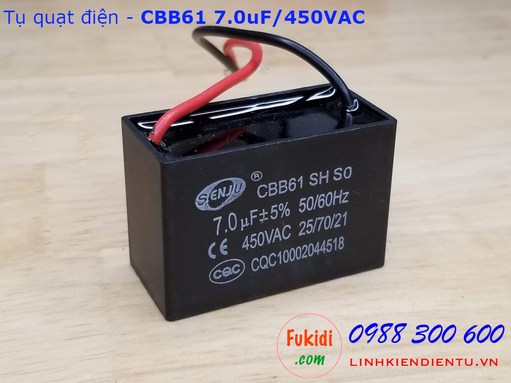 Tụ CBB61 7.0uF 450V
