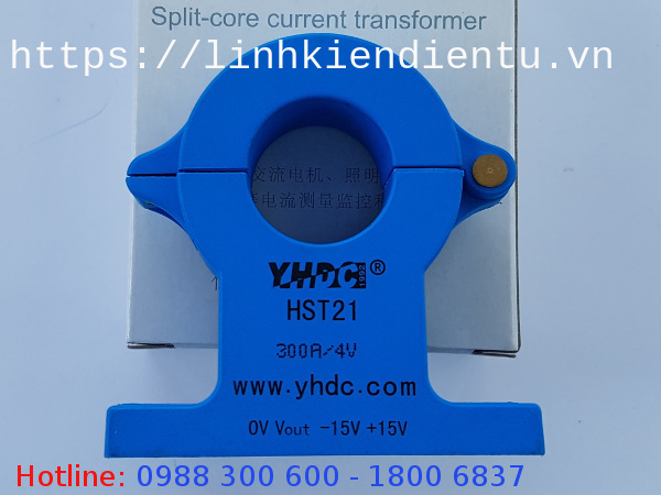 Cảm biến dòng hall hst21 300A-4V AC-DC - hall effect sensor