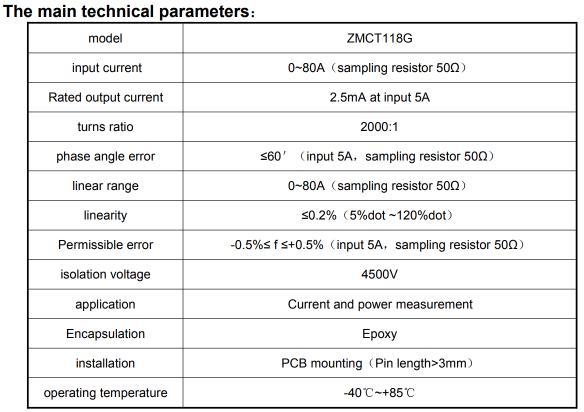 Cuộn dây cảm biến dòng ZMCT118G