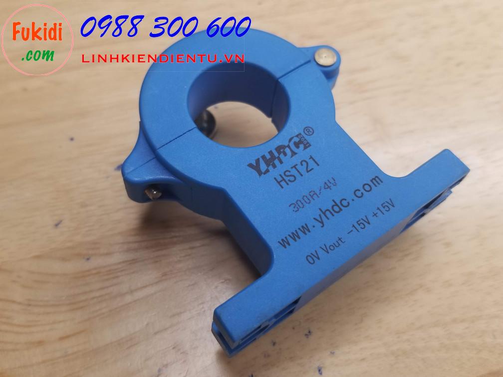 Cảm biến hall đo dòng điện YHDC HST21 tầm đo 0-300A ngõ ra 0-4V, cấp dòng âm dương 15V