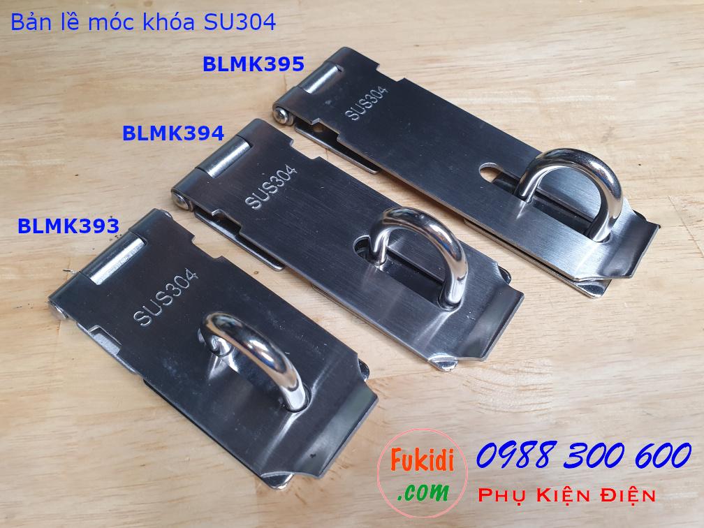 Bản lề móc khóa inox 304, size 86x39, dày 2mm - BLMK393
