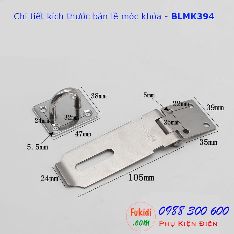 Chi tiết kích thước cửa bãn lề móc khóa BLMK394