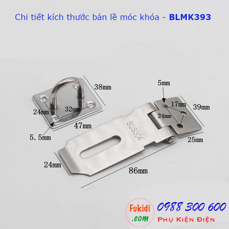 Chi tiết kích thước cửa bãn lề móc khóa BLMK393