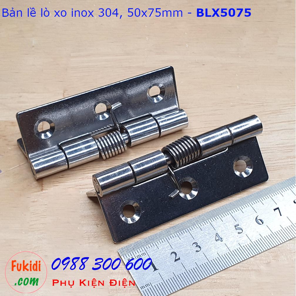 Bản lề lò xo, bản lề tự đóng cửa inox 304 size 50x75mm - BLX5075