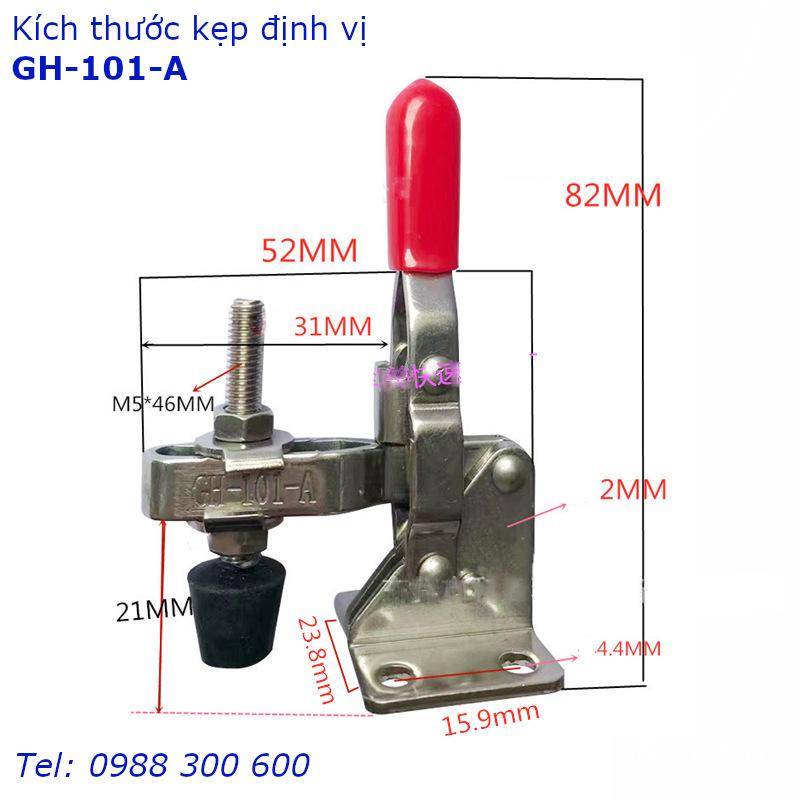 Chi tiết kích thước của kẹp định vi GH-101-A