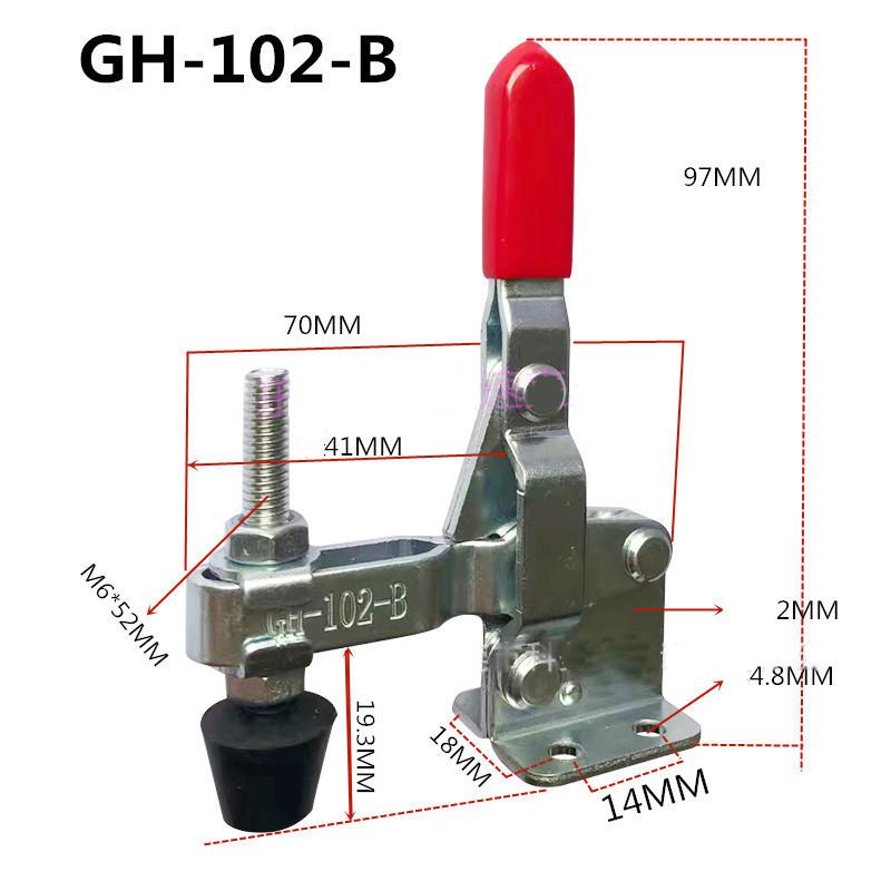 Cam kẹp, kẹp định vị inox 304 lực giữ 100kg dài 97mm - GH-102-BSS