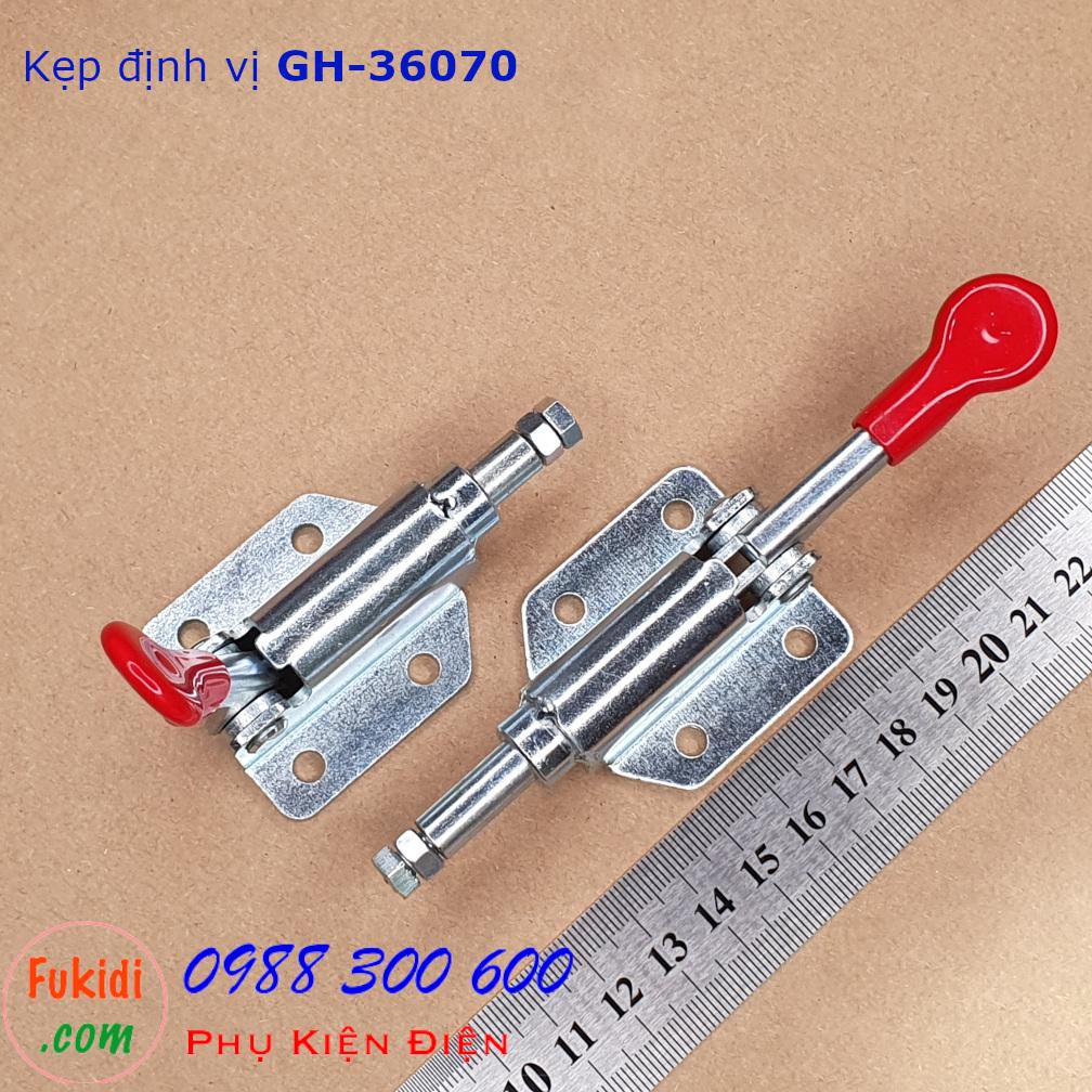 Cam kẹp chốt, kẹp định vi, khóa đui tôm thép mạ kẽm lực giữ 50kg hành trình 10mm - GH-36070