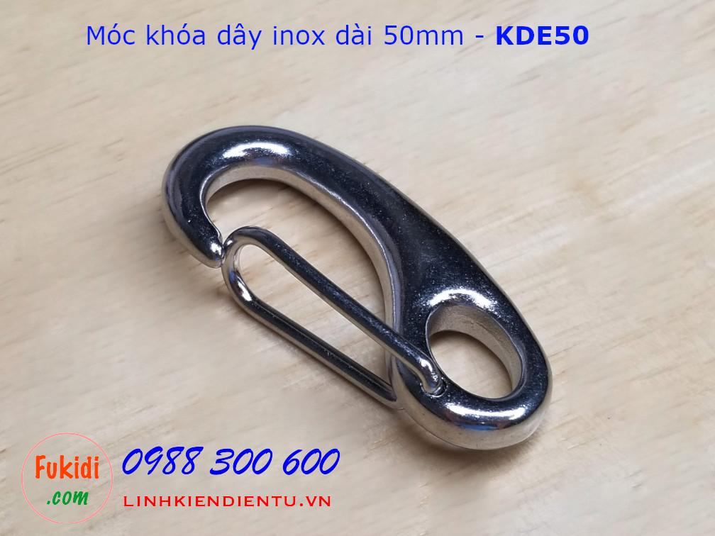 Móc khóa dây inox 304 hình ovan chiều dài 50mm - KDE50