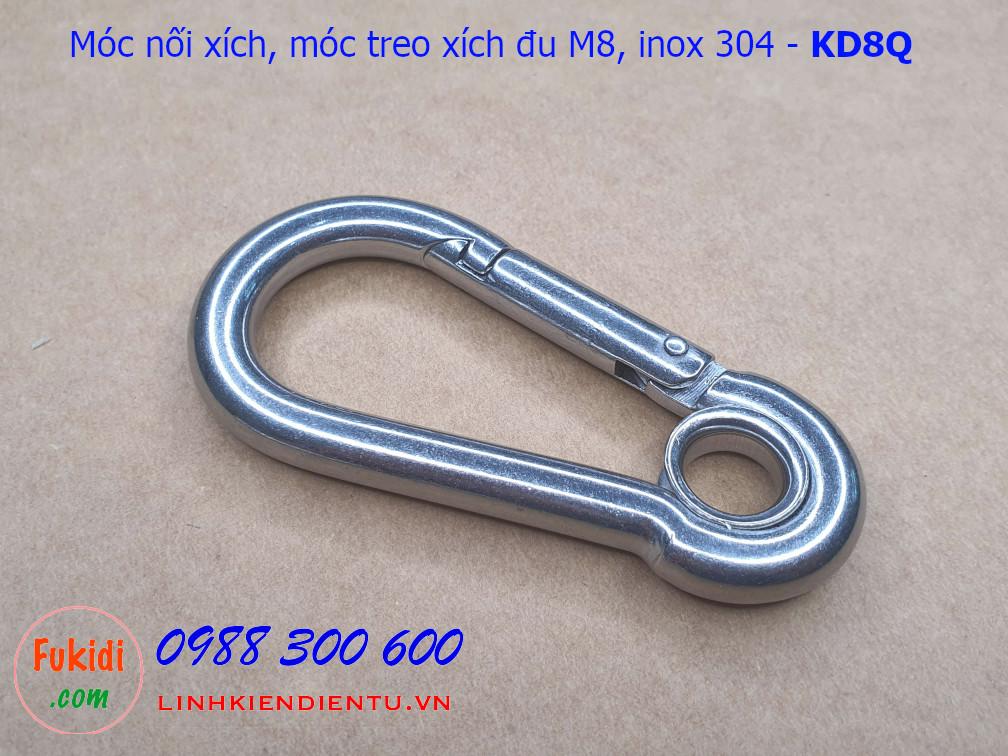 Móc nối xích, móc treo xích đu inox 304 size M8 tải 250kg - KD8Q
