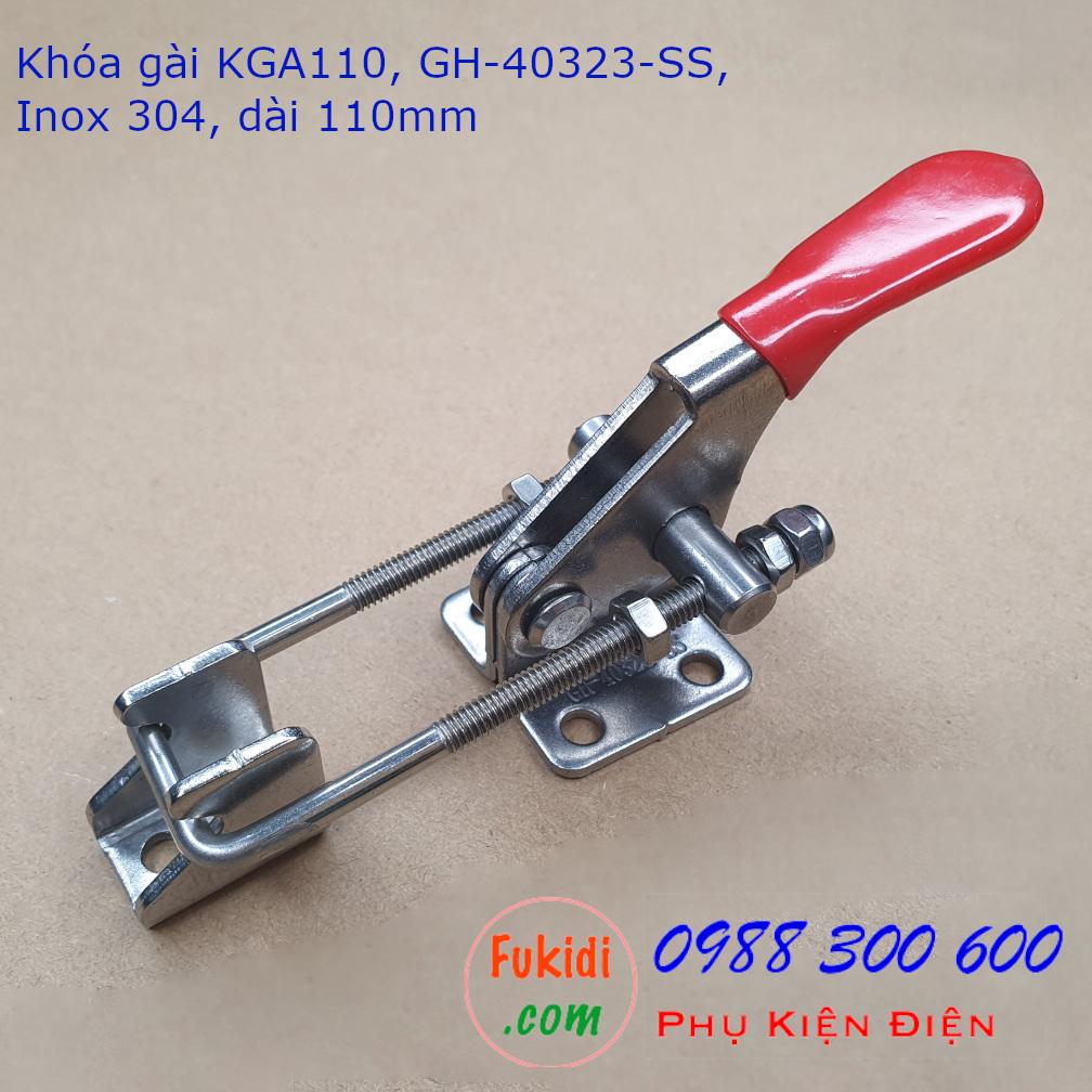 Khóa gài GH-40323-SS chất liệu inox 304 chiều dài 110mm - KGA110