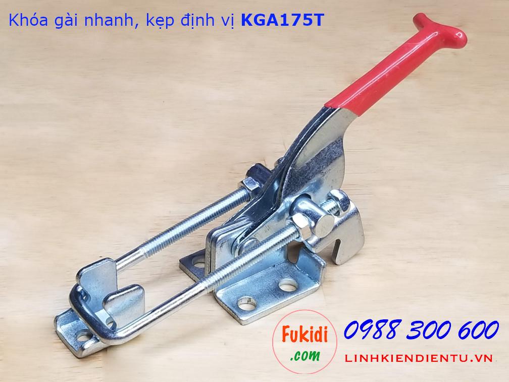Khóa gài nhanh, kẹp định vị, chất liệu thép mạ kẽm dài 175mm - KGA175T