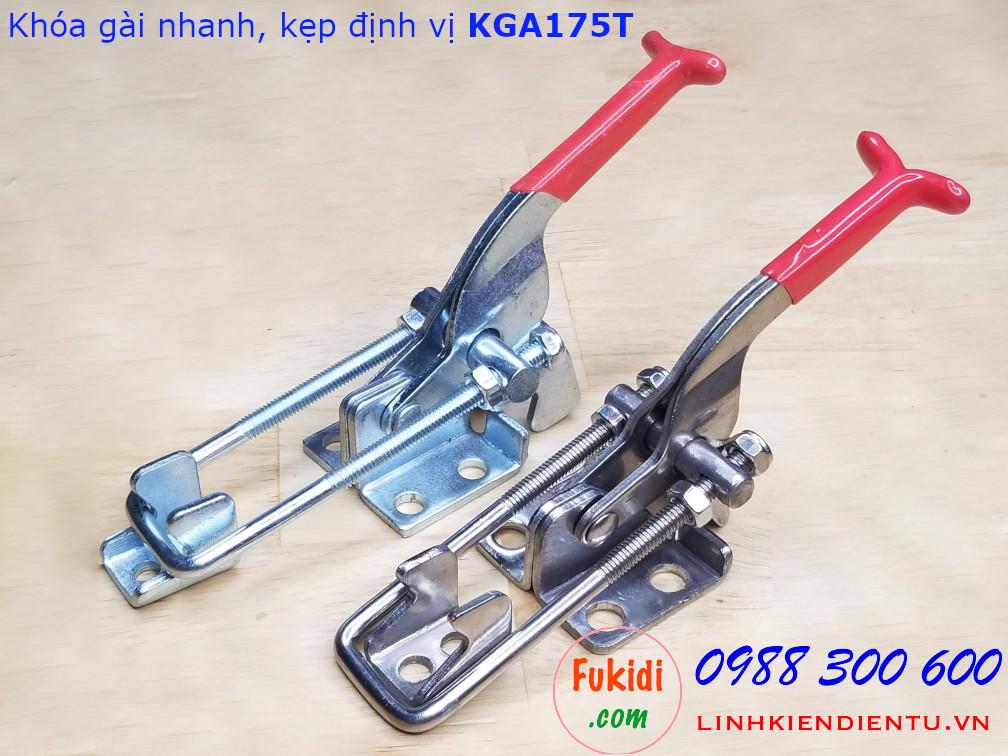 Hai loại chất liệu của khóa gài nhanh KGA175 là KGA175 Inox 304 và KGA175T thép mạ kẽm