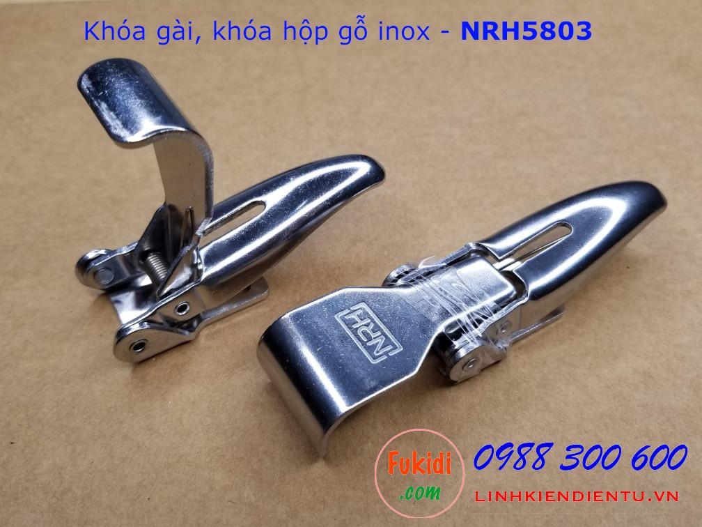 Khóa hộp gỗ, khóa gài inox NRH5803 kích thước 25x104mm