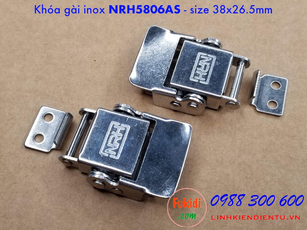 Một góc nhìn cho hai chiều của khóa gài, khóa hộp gỗ, inox NRH5806AS