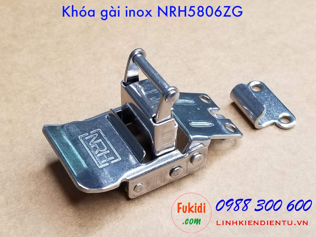 Hình chụp thực tế của khóa gài hộp gỗ NRH5806ZG inox 304