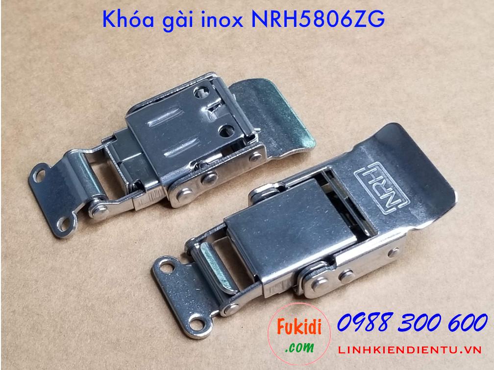 Mặt trên và dưới của khóa gài hộp gỗ NRH5806ZG inox 304